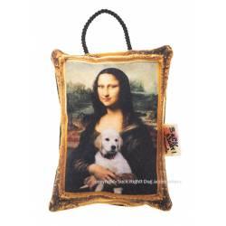 Mona Lisa with dog toy