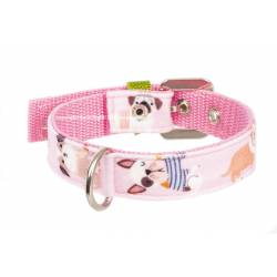 Dogs in Pink Collar