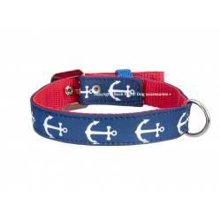 Anchor Blue White Collar