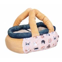 Orange Dogs Basket Bag